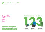 Recycle for Scotland local authority reduced frequency campaign, easy as 1 2 3, envelope template