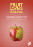 Love Food Hate Waste 'Fruit Lovers Scotland' - A3 Poster