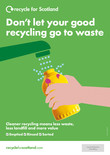 Recycle for Scotland local authority A3 plastic bottle contamination poster