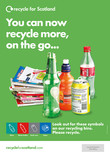 Recycle for Scotland Recycle on the Go A3 poster