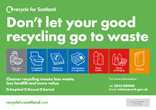 Recycle for Scotland local authority contamination bin sticker