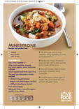 Love Food Hate Waste - Recipe, Minestrone Soup