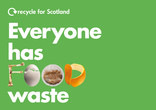 Recycle for Scotland local authority Everyone has Food Waste digital advert