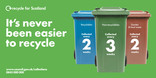 Recycle for Scotland local authority reduced frequency campaign, its never been easier to recycle, vehicle livery template