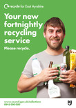 Recycle for Scotland local authority A3 service change poster