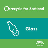 Recycle for Scotland Recycle on the Go glass core material stream icon