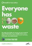 Recycle for Scotland local authority Everyone has Food Waste A3 poster