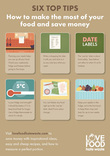 Love Food Hate Waste 6 Top Tips Poster