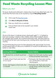 Food waste recycling lesson plan