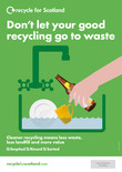 Recycle for Scotland local authority A3 glass bottle contamination poster