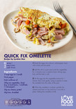 Love Food Hate Waste - Recipe Card, Omlette