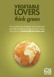 Love Food Hate Waste Poster: 'Vegetable Lovers Think Green'