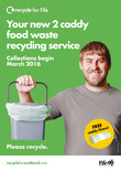 Recycle for Scotland local authority food waste collection A3 caddy poster - portrait