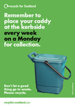 Recycle  for Scotland local authority food waste collection reminder postcard