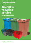 Recycle for Scotland local authority 16pp A5 service change leaflet