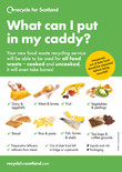 Recycle for Scotland local authority food waste collection A3 food types poster - portrait