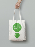 Re-use brand tote bag artwork
