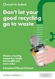 Recycle for Scotland local authority 4pp A5 contamination leaflet