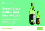 Green glass sticker