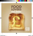 Love Food Hate Waste - Beer Mat (Apple, Cheese, Toast)