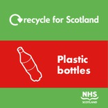 Recycle for Scotland Recycle on the Go plastic bottles core material stream icon