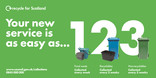 Recycle for Scotland local authority reduced frequency campaign, easy as 1 2 3, vehicle livery template