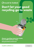 Recycle for Scotland local authority A3 can contamination poster