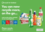 Recycle for Scotland Recycle on the Go press advert