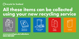 Recycle for Scotland local authority material streams service change vehicle livery