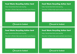 Food waste recycling action cards