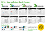Recycle for Scotland local authority reduced frequency campaign calendar template