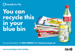 Recycle for Scotland local authority, what can I put in my recycling bin sticker -photo template