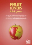 Love Food Hate Waste Poster: 'Fruit Lovers Think Green'