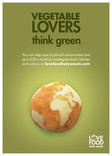 Love Food Hate Waste 'Vegetable Lovers Scotland' - A3 Poster