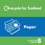 Recycle for Scotland Recycle on the Go paper core material stream icon