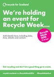 Recycle Week 2016 Empty Belly Poster