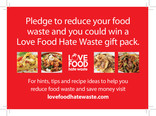 Love Food Hate Waste - Competition Pledge Card (Scotland)