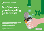Recycle for Scotland local authority contamination press advert
