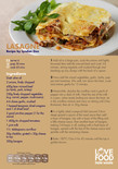 Love Food Hate Waste - Recipe Card, Lasagne