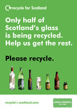 RFS Communication Toolkit: Colour-separated Glass Recycling Collections Recycling Point A5 leaflet