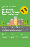 Recycle for Scotland local authority Everyone has Food Waste transformation liner wrap