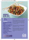 Love Food Hate Waste - Recipe, Speedy Stir Fry