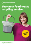 Recycle  for Scotland local authority food waste collection 4pp A5 leaflet