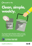 Recycle for Scotland local authority Everyone has Food Waste - clean, simple, weekly A3 poster